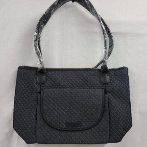 Vera Bradley Denim Navy Carson East West Tote NEW